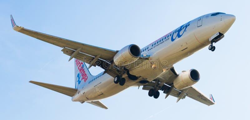 Air Europa samolotu lądowanie zdjęcie stock