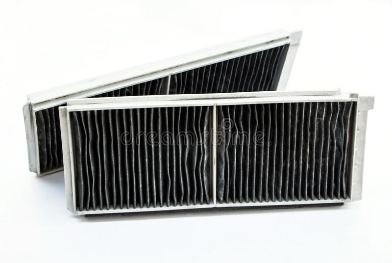 Air filter for very dirty car air conditioner royalty free stock images