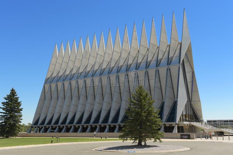 Air Force Academy Chapel. Colorado Springs, CO, USA – July 23, 2016: Air Force Academy Chapel in Colorado Springs, Colorado royalty free stock photography