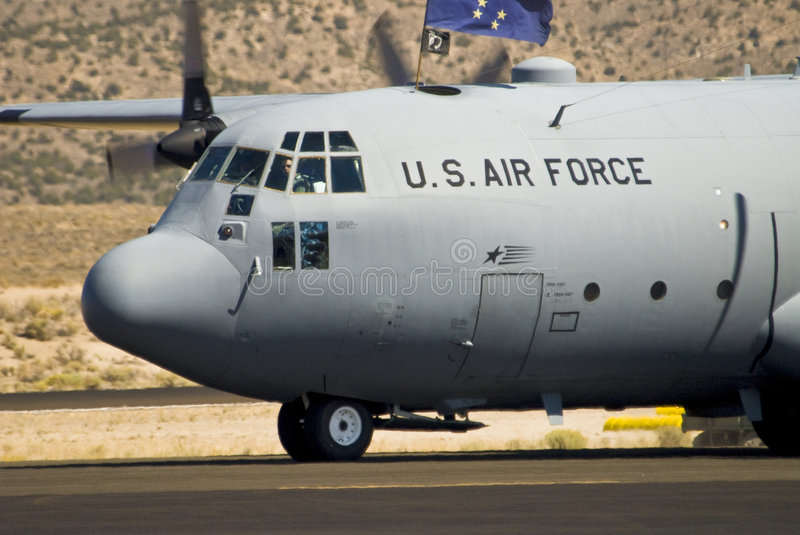 Air Force cargo plane royalty free stock photography