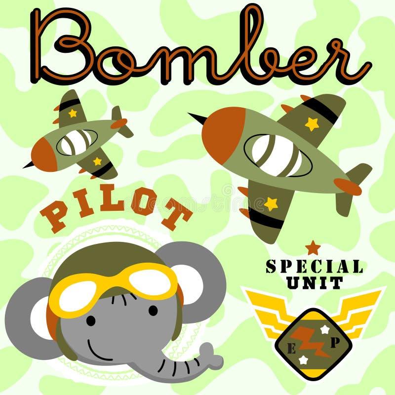 Air force cartoon vector royalty free illustration