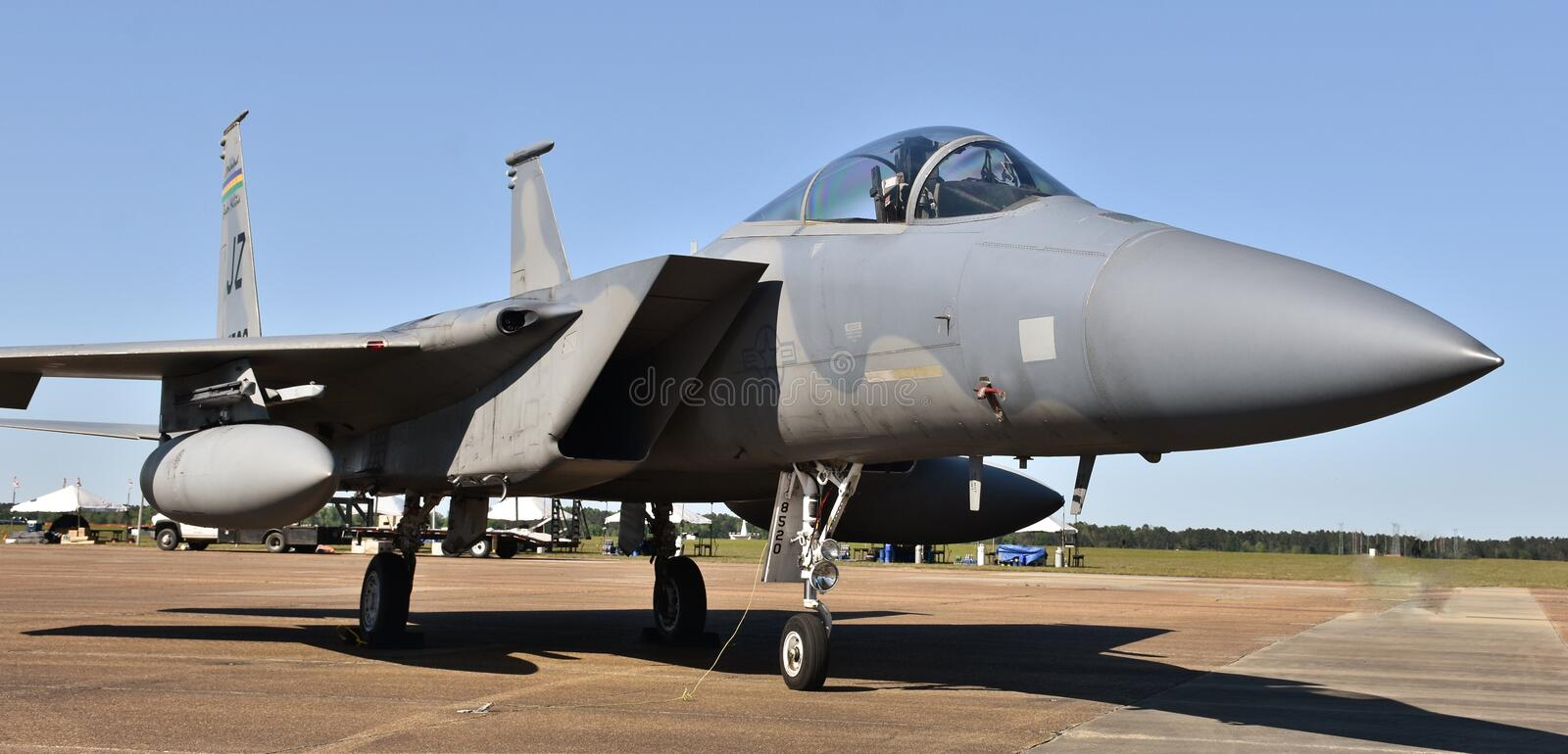 Air Force F-15 Eagle Fighter Jet royalty free stock photo