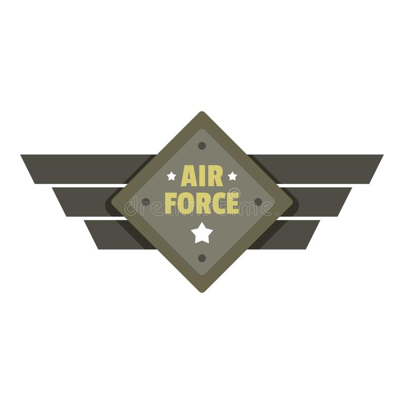 Air force icon logo, flat style royalty free illustration