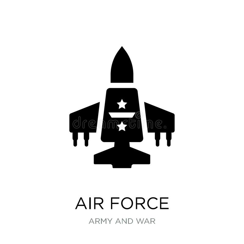 air force icon in trendy design style. air force icon isolated on white background. air force vector icon simple and modern flat stock illustration