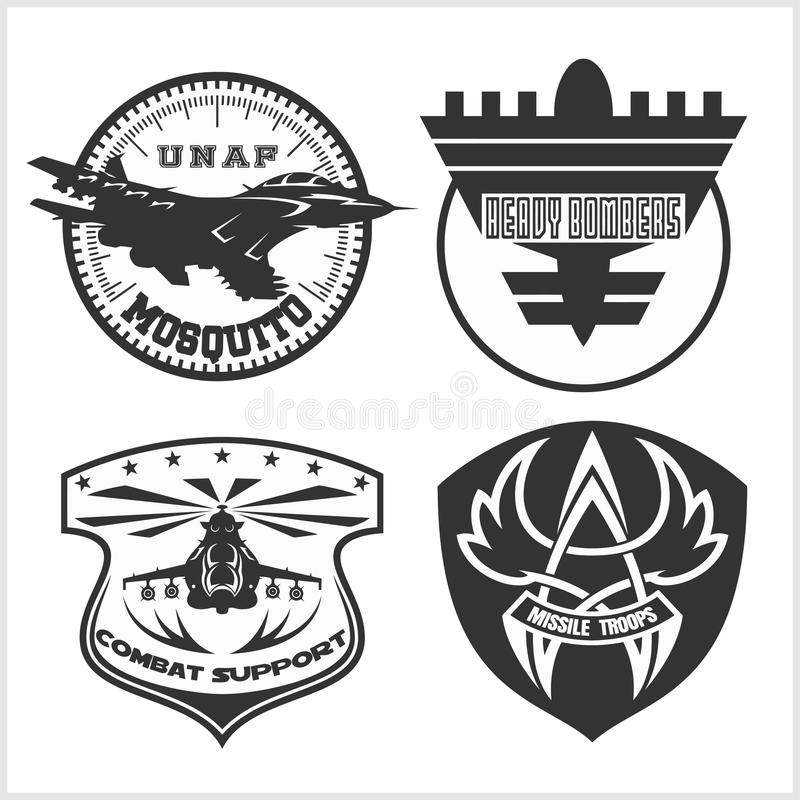 air force military emblem set vector design template stock photo image of armor icon 69516388. Black Bedroom Furniture Sets. Home Design Ideas