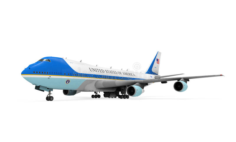 Air Force One isolerade stock illustrationer