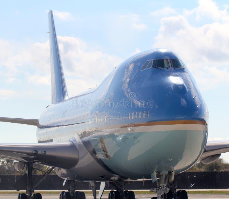 Air Force One que Taxiing em JFK New York City internacional, New York fotografia de stock