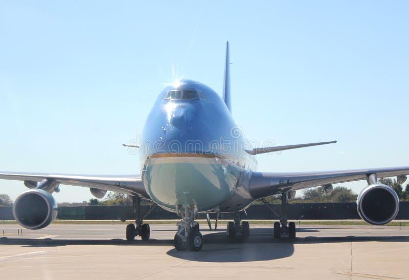 Air Force One que Taxiing em JFK New York City internacional, New York foto de stock