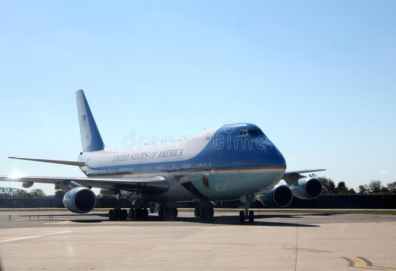 Air Force One Taxiing at JFK International New York City, New York stock photos