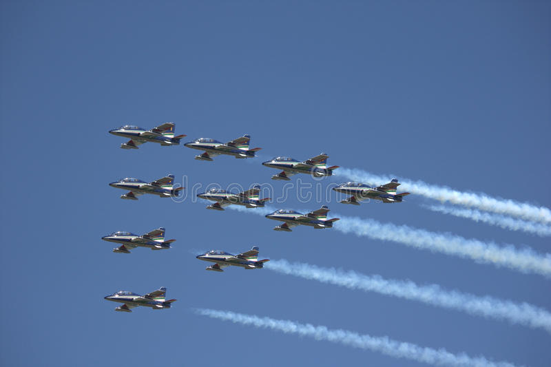 Air force planes. A air force show in the netherlands royalty free stock photography