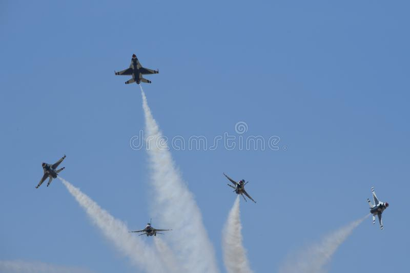 Air Force, Sky, Aviation, Air Show stock image