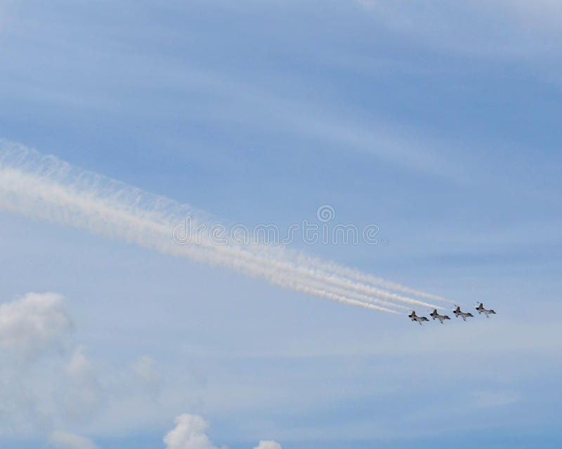 Air Force Thunderbirds Air Show - Four Planes royalty free stock photography