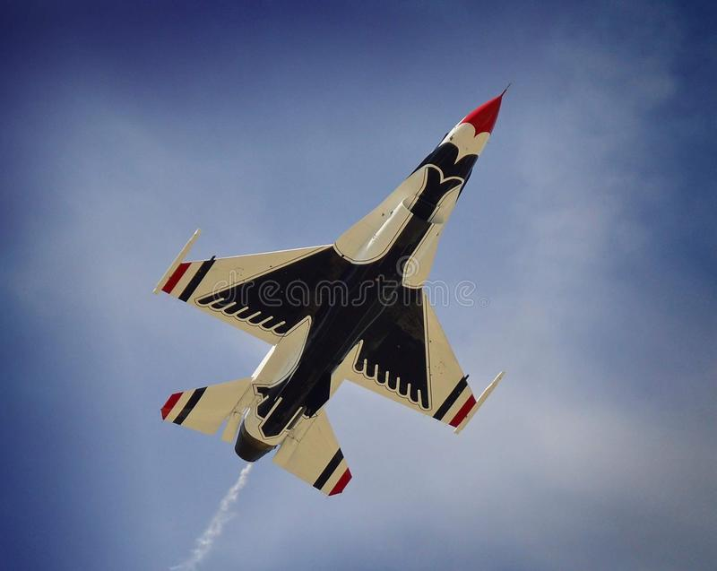 Air Force thunderbirds. United States Air Force thunderbirds fly over Dover AFB stock photos