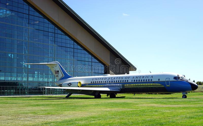 Air Force Two aircraft - Vice President`s plane stock images