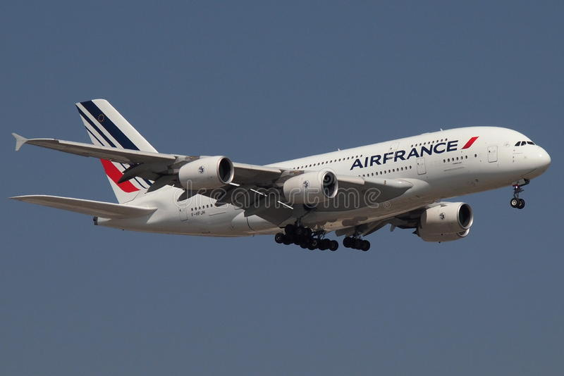 Air France A380 arkivfoto