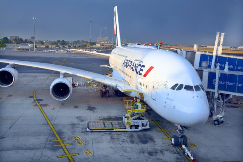 Air France A380 fotografía de archivo libre de regalías