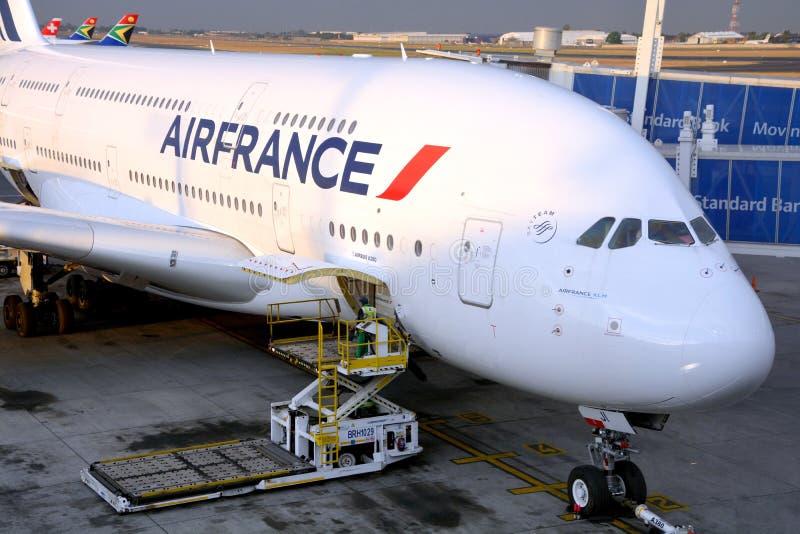 Air France A380 stock afbeeldingen