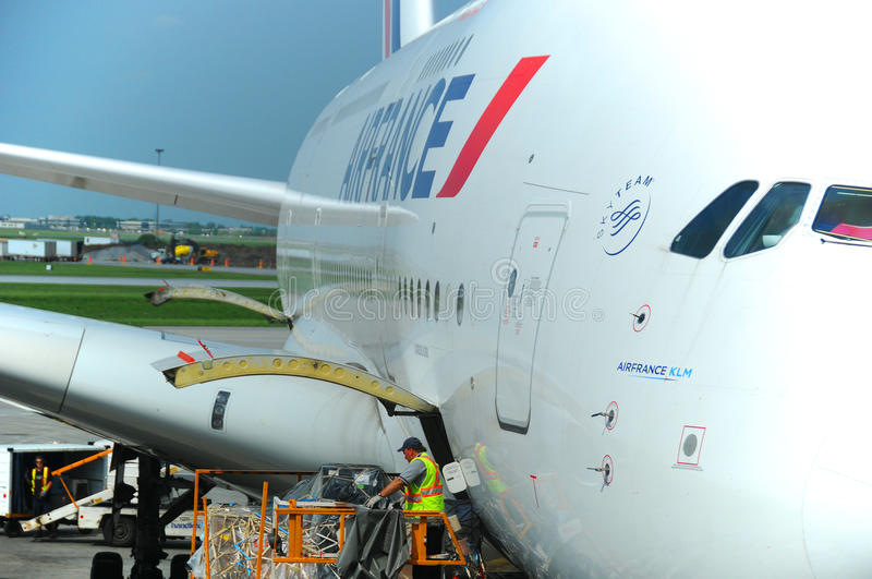 Air France A380 imagenes de archivo
