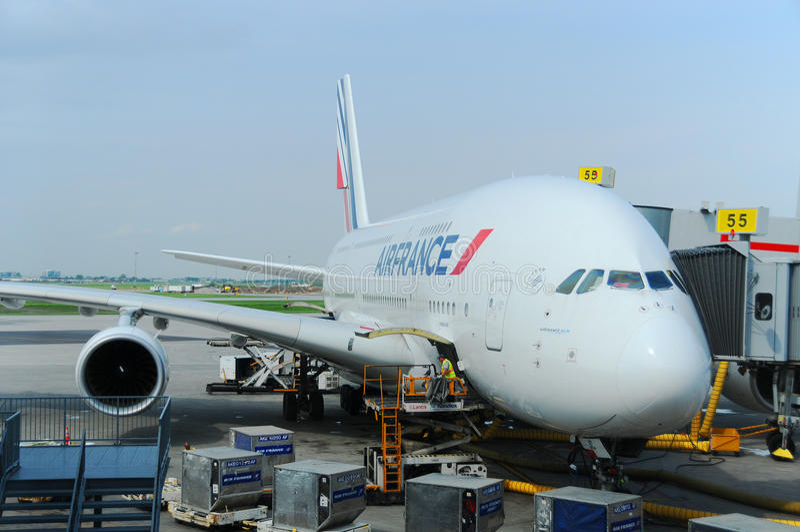 Air France A380 fotos de archivo