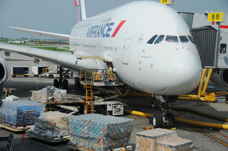 Air France A380 fotos de archivo libres de regalías