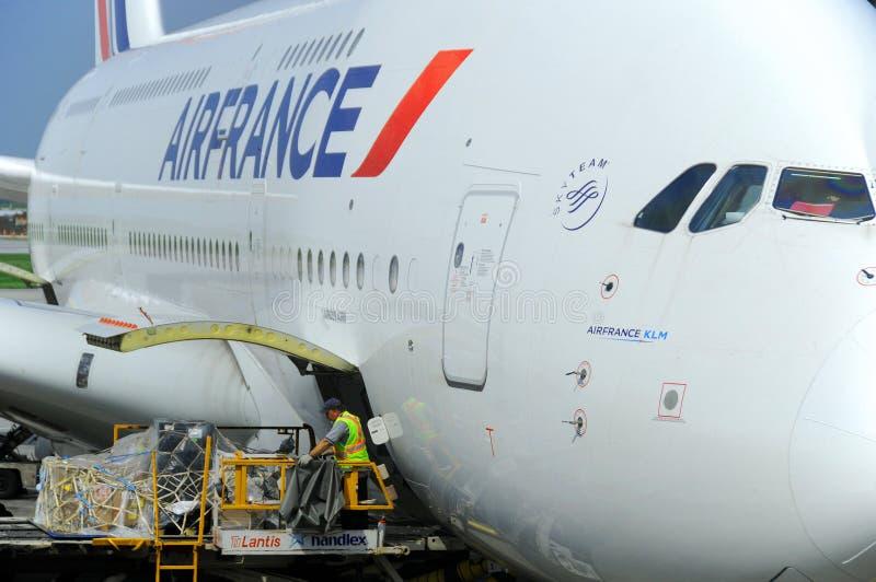 Air France A380 imágenes de archivo libres de regalías