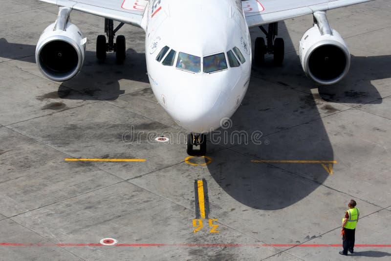 Air France Airbus A320 à l'aéroport international de Sheremetyevo images stock
