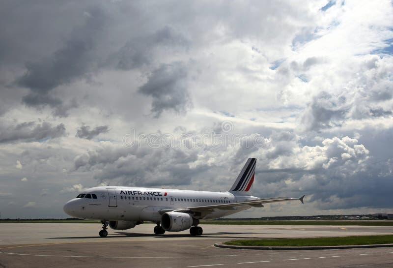 Air France Airbus A319 Aircraft model. An Air France Airbus A319 Aircraft can be seen at Henri Coanda International Airport, in Otopeni, Romania royalty free stock images