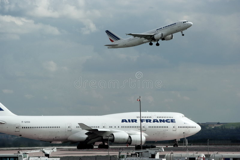 Air France airplanes. stock images