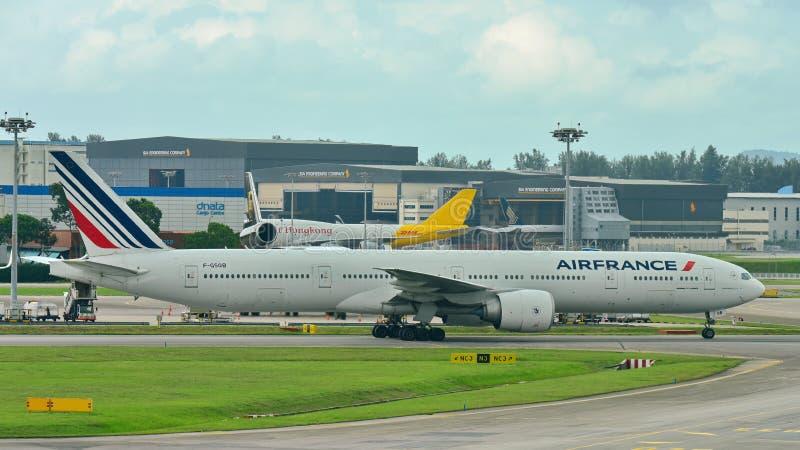 Air France Boeing 777-300ER taxiing stock photos