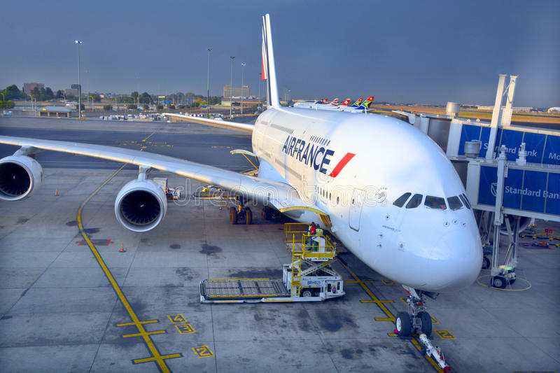 Air France A380 royalty free stock photography