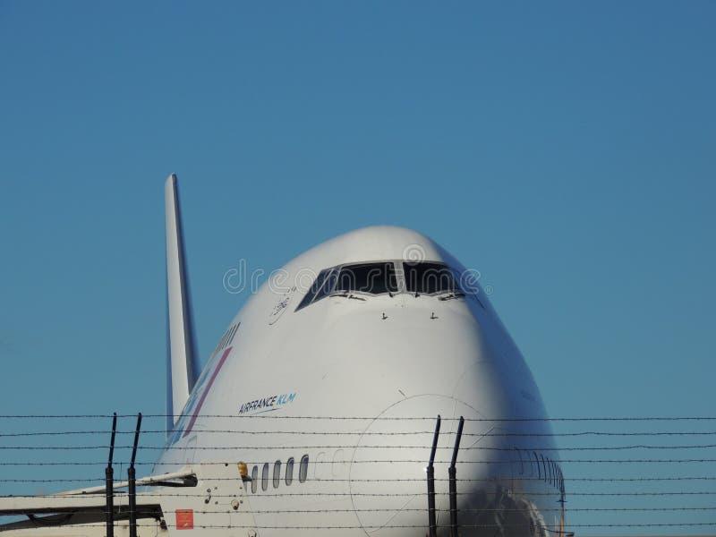 Air France klm 747 på jordningen arkivbilder
