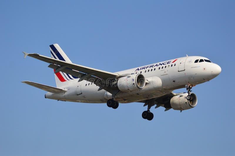 Air France-vliegtuig stock afbeeldingen