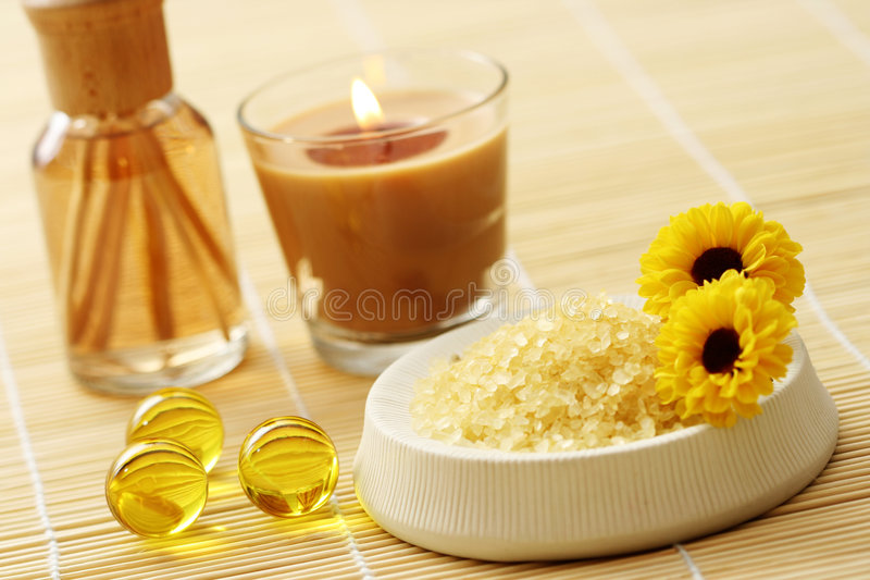 Air freshener. Bottle of air freshener - beauty treatment royalty free stock images