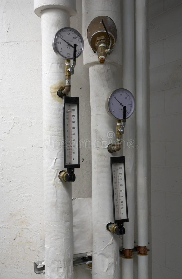 Air gauge and thermometrs royalty free stock image