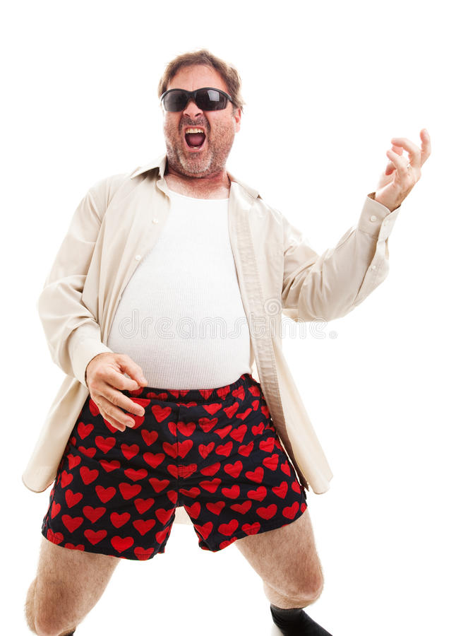 Free Air Guitar In Underwear Royalty Free Stock Photography - 42889677