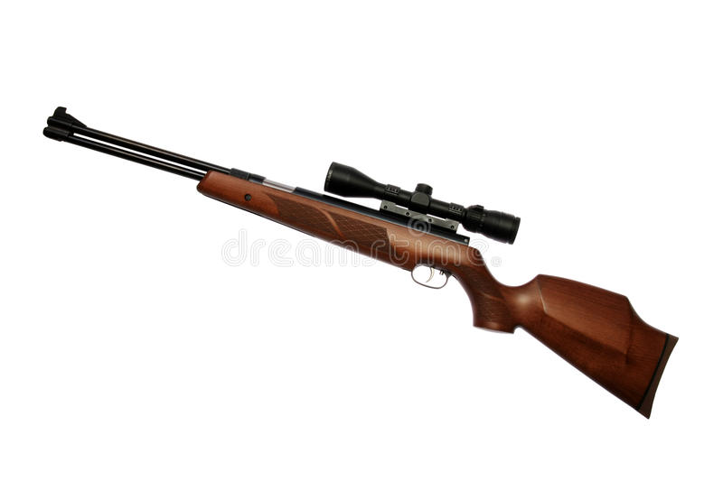 Air gun isolated stock image