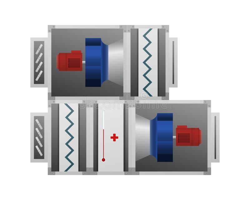 Air handling unit. Air handling unit vector illustration. Technical image royalty free illustration