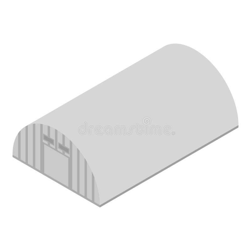 Air hangar icon, isometric style. Air hangar icon. Isometric of air hangar vector icon for web design isolated on white background stock illustration