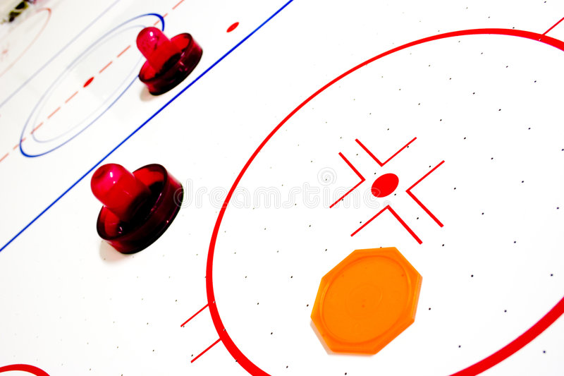 Air hockey table stock photo