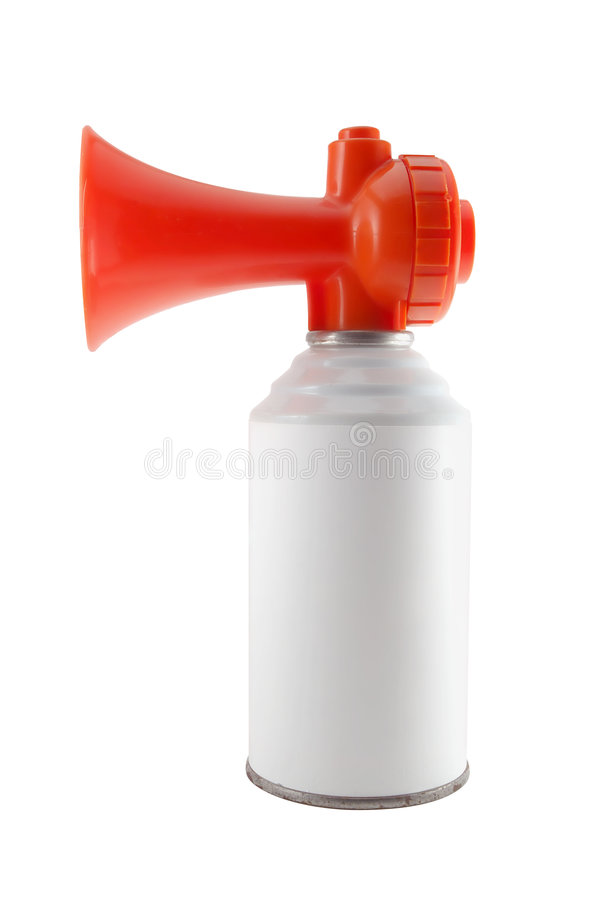 Air horn. Isolated on white