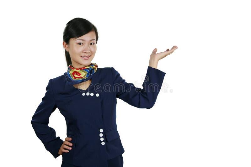 Download Air hostess stock image. Image of pose, girl, elegance - 4166653