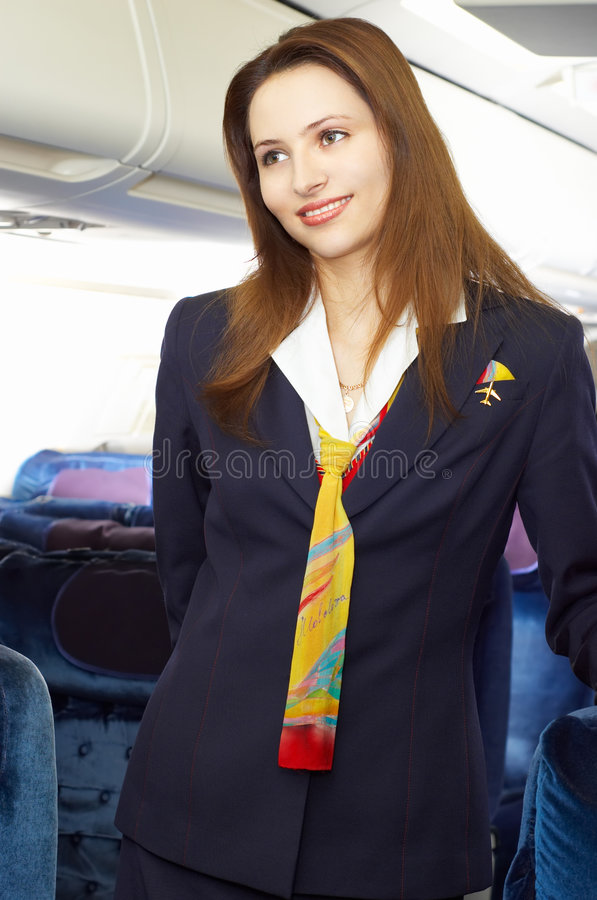 Download Air hostess (stewardess) stock image. Image of fashion - 1962457