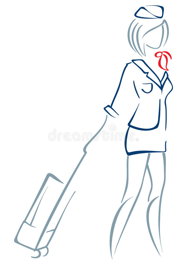 Air Hostess Stock Vector Illustration Of Airplane Stewardess