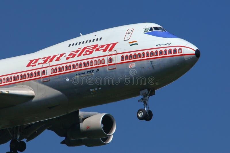 Air India Boeing 747 royaltyfria foton