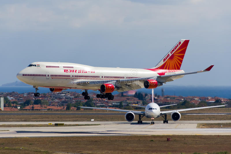 Air India Boeing 747 stock photo