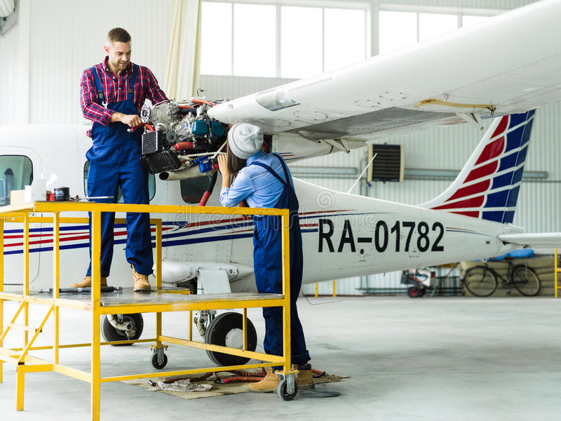 Air jet service royalty free stock photos