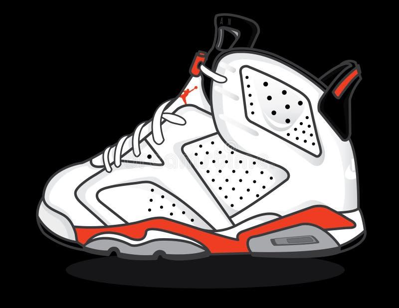 Air Jordan 6. The Air Jordan 6 is Michael Jordan's third signature basketball shoe royalty free illustration