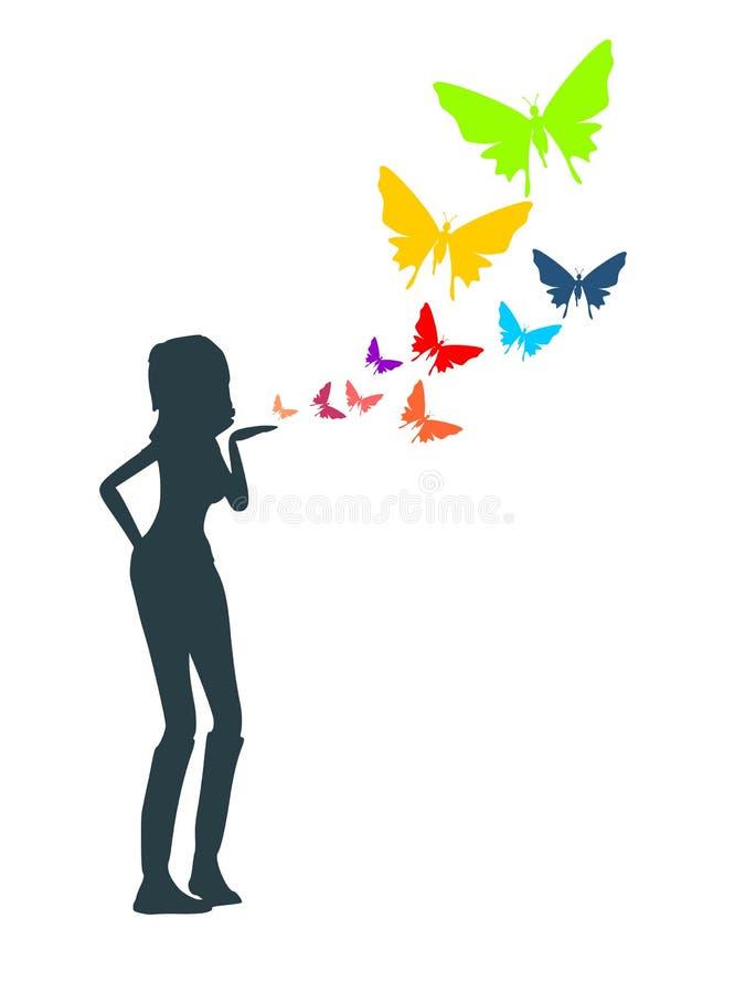 An air kiss concept stock illustration