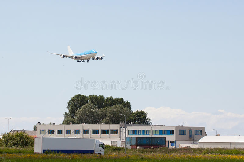 Air And Land Transportation Royalty Free Stock Images