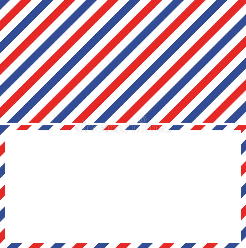 air mail background and frame of the envelope of a letter stock